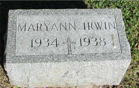 IRWIN, MARYANN - Ida County, Iowa | MARYANN IRWIN