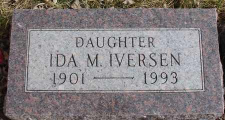IVERSEN, IDA M. - Ida County, Iowa   IDA M. IVERSEN