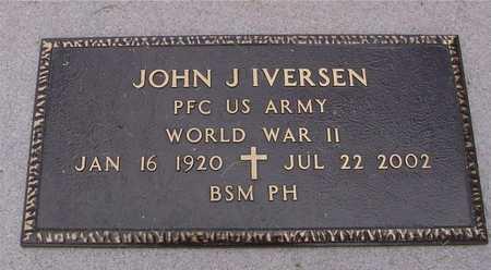 IVERSEN, JOHN J. - Ida County, Iowa   JOHN J. IVERSEN