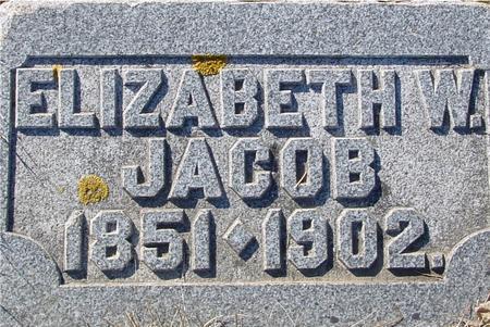 JACOB, ELIZABETH W. - Ida County, Iowa   ELIZABETH W. JACOB