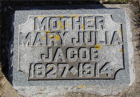 JACOB, MARY JULIA - Ida County, Iowa | MARY JULIA JACOB