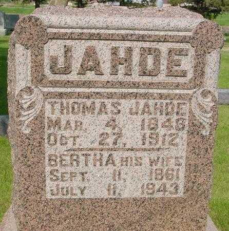 JAHDE, THOMAS - Ida County, Iowa   THOMAS JAHDE