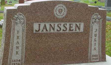 JANSSEN, FRANK & JULIA - Ida County, Iowa   FRANK & JULIA JANSSEN