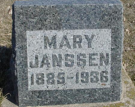 JANSSEN, MARY - Ida County, Iowa | MARY JANSSEN