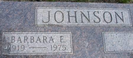 JOHNSON, BARBARA E. - Ida County, Iowa   BARBARA E. JOHNSON