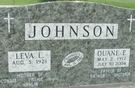JOHNSON, DUANE E. - Ida County, Iowa   DUANE E. JOHNSON