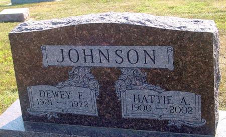 JOHNSON, DEWEY & HATTIE - Ida County, Iowa | DEWEY & HATTIE JOHNSON