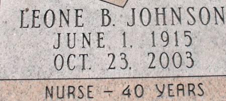 JOHNSON, LEONE B. - Ida County, Iowa | LEONE B. JOHNSON