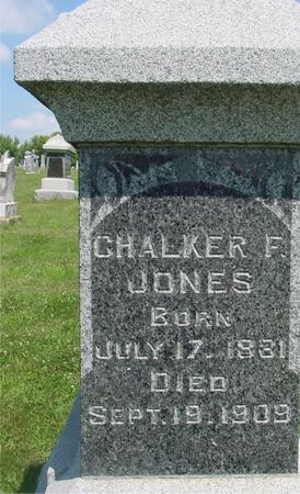 JONES, CHALKER F. - Ida County, Iowa   CHALKER F. JONES