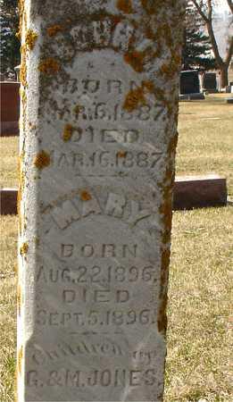 JONES, JOHN D. & MARY - Ida County, Iowa   JOHN D. & MARY JONES