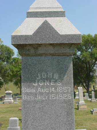 JONES, JOHN - Ida County, Iowa   JOHN JONES