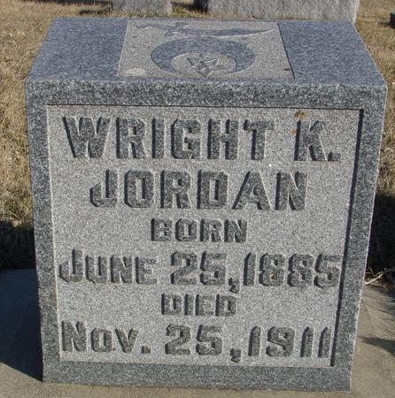 JORDAN, WRIGHT K. - Ida County, Iowa   WRIGHT K. JORDAN