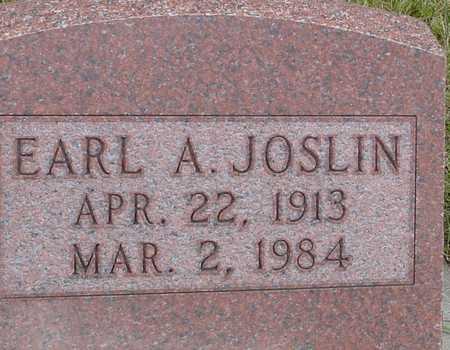 JOSLIN, EARL A. - Ida County, Iowa   EARL A. JOSLIN