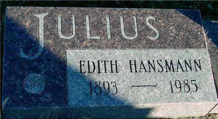HANSMANN JULIUS, EDITH - Ida County, Iowa | EDITH HANSMANN JULIUS