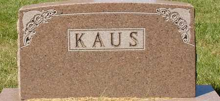 KAUS, FAMILY MARKER - Ida County, Iowa | FAMILY MARKER KAUS