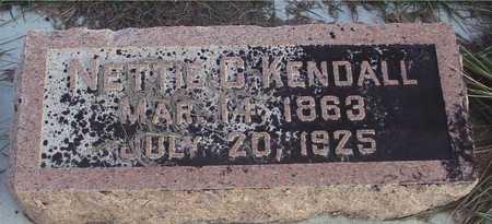 KENDALL, NETTIE C. - Ida County, Iowa   NETTIE C. KENDALL