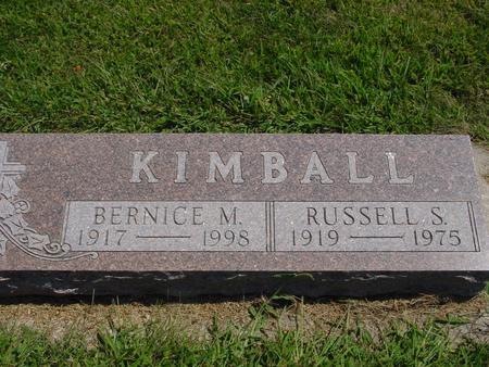 KIMBALL, RUSSELL & BERNICE - Ida County, Iowa | RUSSELL & BERNICE KIMBALL