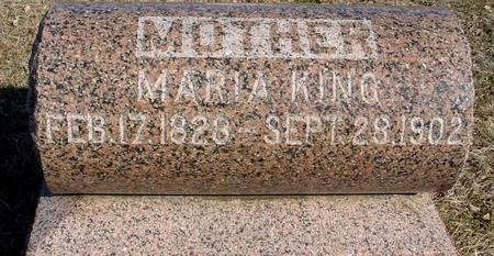 KING, MARIA - Ida County, Iowa   MARIA KING
