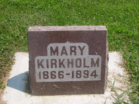 KIRKHOLM, MARY - Ida County, Iowa   MARY KIRKHOLM