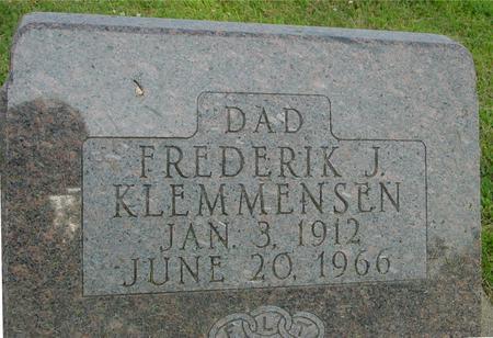 KLEMMENSEN, FREDERIK J. - Ida County, Iowa | FREDERIK J. KLEMMENSEN