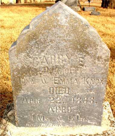 KNOX, CARRY E. - Ida County, Iowa | CARRY E. KNOX