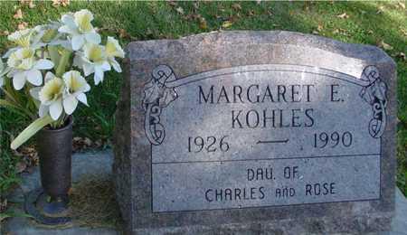 KOHLES, MARGARET E. - Ida County, Iowa | MARGARET E. KOHLES