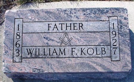 KOLB, WILLIAM F. - Ida County, Iowa   WILLIAM F. KOLB