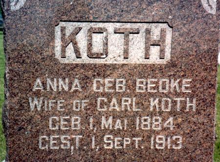 KOTH, ANNA - Ida County, Iowa | ANNA KOTH