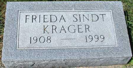 SINDT KRAGER, FRIEDA - Ida County, Iowa   FRIEDA SINDT KRAGER