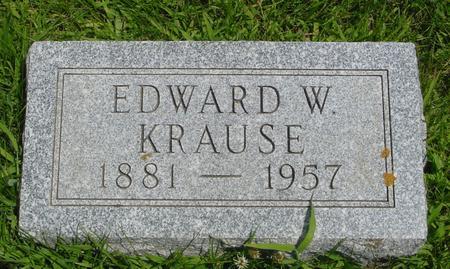 KRAUSE, EDWARD W. - Ida County, Iowa   EDWARD W. KRAUSE