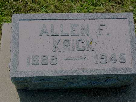 KRICK, ALLEN F. - Ida County, Iowa | ALLEN F. KRICK