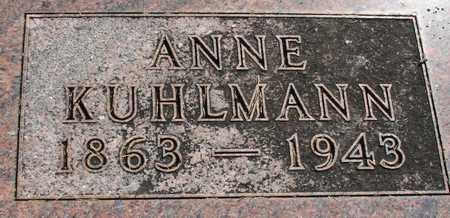 KUHLMANN, ANNIE - Ida County, Iowa   ANNIE KUHLMANN