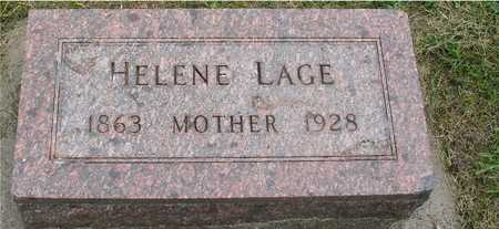 LAGE, HELENE - Ida County, Iowa   HELENE LAGE