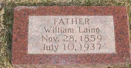 LAING, WILLIAM - Ida County, Iowa   WILLIAM LAING