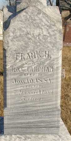 LAMPMAN, FRANK H. - Ida County, Iowa   FRANK H. LAMPMAN