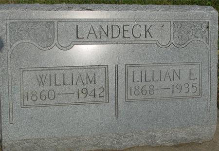 LANDECK, WILLIAM & LILLIAN - Ida County, Iowa | WILLIAM & LILLIAN LANDECK