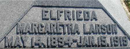LARSON, ELFRIEDA MARGARETHA - Ida County, Iowa   ELFRIEDA MARGARETHA LARSON