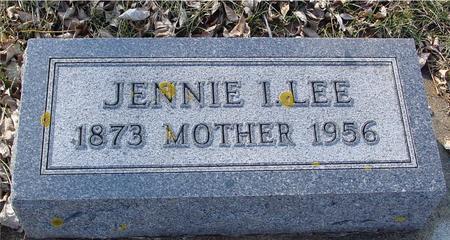 LEE, JENNIE I. - Ida County, Iowa   JENNIE I. LEE