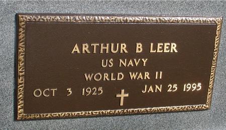 LEER, ARTHUR B. - Ida County, Iowa | ARTHUR B. LEER