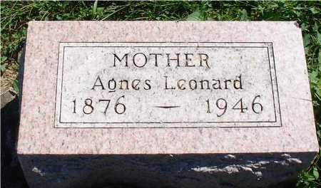 LEONARD, AGNES - Ida County, Iowa   AGNES LEONARD