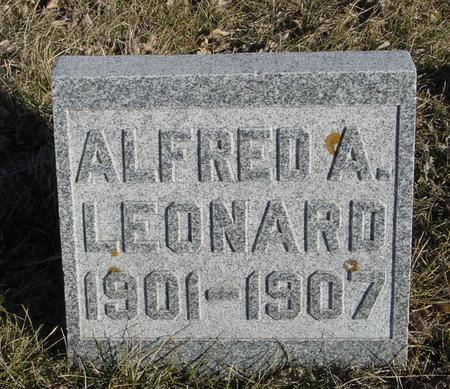 LEONARD, ALFRED A. - Ida County, Iowa | ALFRED A. LEONARD