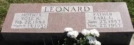 LEONARD, EARL & ROSE - Ida County, Iowa | EARL & ROSE LEONARD