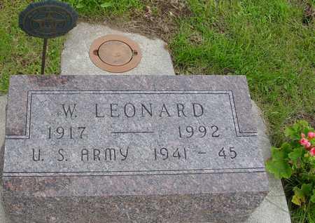 LEONARD, W. - Ida County, Iowa   W. LEONARD