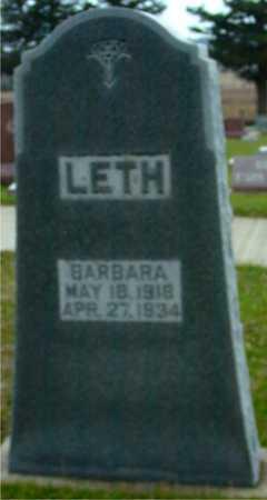 LETH, BARBARA - Ida County, Iowa | BARBARA LETH