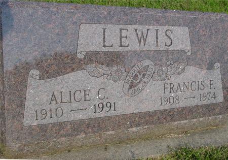 LEWIS, FRANCIS - Ida County, Iowa   FRANCIS LEWIS