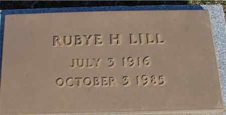LILL, RUBYE H. - Ida County, Iowa | RUBYE H. LILL