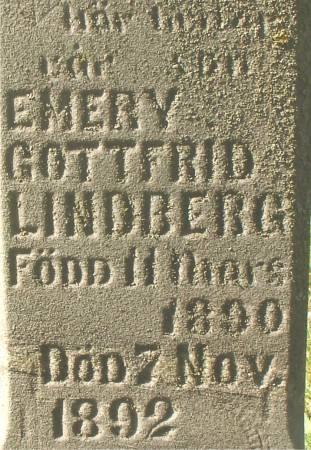 LINDBERG, EMERY GOTTFRID - Ida County, Iowa   EMERY GOTTFRID LINDBERG