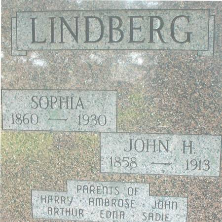 LINDBERG, JOHN H. - Ida County, Iowa   JOHN H. LINDBERG