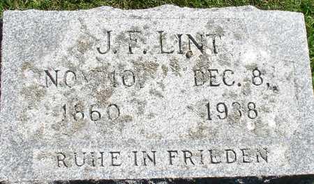 LINT, J. F. - Ida County, Iowa | J. F. LINT