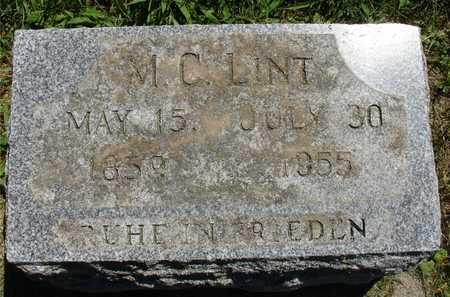 LINT, M. C. - Ida County, Iowa   M. C. LINT